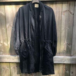Black army style jacket - medium